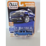 Auto World 1:64 Chevrolet Silverado High Country 2019 northsky blue poly