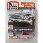 Auto World 1:64 Chevrolet Impala SS 409 Convertible 1962 Satin Silver Metallic