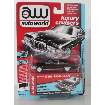 Auto World 1:64 Cadillac Coupe DeVille D'Elegance 1976 gloss black