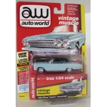 Auto World 1:64 Chevrolet Impala Convertible 1962 twilight turquoise