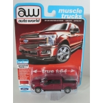 Auto World 1:64 Ford F-150 Lariat 2018 ruby red
