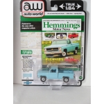 Auto World 1:64 Chevrolet C10 Scottsdale Fleetside 1979 light blue