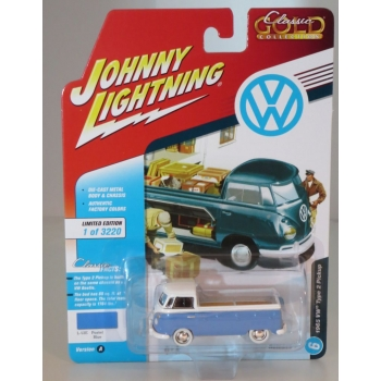 Johnny Lightning 1:64 Volkswagen Type 2 Pickup 1965 pastel blue
