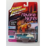 Johnny Lightning 1:64 Chevrolet Bel Air Convertible 1955 regal turquoise