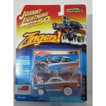 Johnny Lightning 1:64 Chevrolet Bel Air (Zingers) 1962 white orange