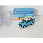 Mini GT 1:64 Land Rover Defender 110 with Surfboard light blue