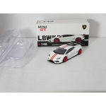 Mini GT 1:64 Lamborghini Huracan LB Works white with red stripes