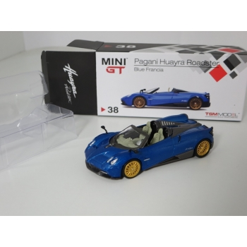 Mini GT 1:64 Pagani Huayra Roadster 2018 LHD blue