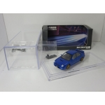 BM Creations 1:64 Subaru Impreza WRX 2001 LHD with Extra Wheels blue