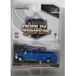 Greenlight 1:64 Chevrolet Silverado 3500 2018 Dually Service Bed deep ocean blue