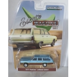 Greenlight 1:64 Pontiac LeMans Safari Wagon 1977 glacier blue with woodgrain