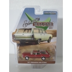 Greenlight 1:64 Oldsmobile Vista Cruiser 1971 matador red with woodgrain
