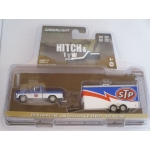 Greenlight 1:64 Ford F-100 1970 and STP Racing Trailer