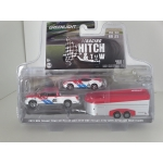Greenlight 1:64 Nissan Titan XD Pro-4X 2019 and Nissan 370Z 2019 BRE #46 with Aerovault Trailer