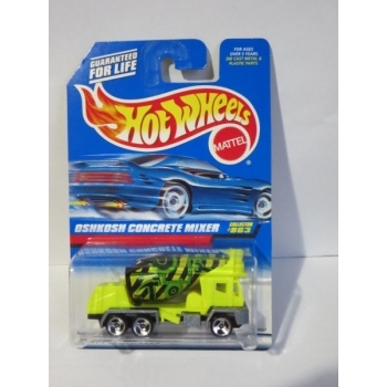 Hot Wheels 1:64 Oshkosh Concrete Mixer flour yellow HW1998