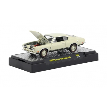 M2 Machines 1:64 Plymouth Barracuda 440 1969 beige