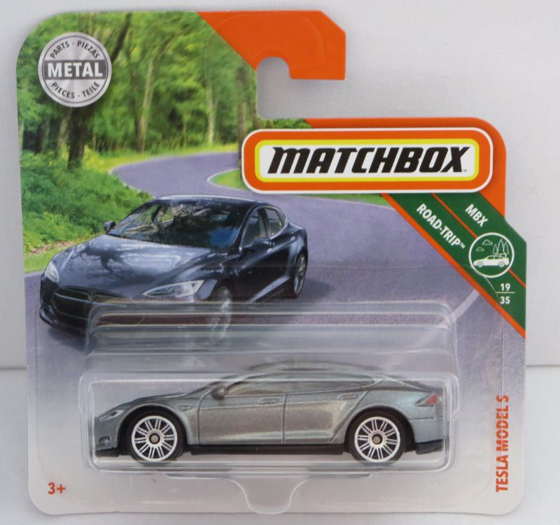 2018 Tesla Model S Camshaft: Matchbox 1:64 Tesla Model S MB2018